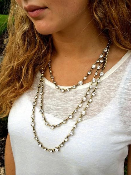 Triple Tier Crystal Necklace