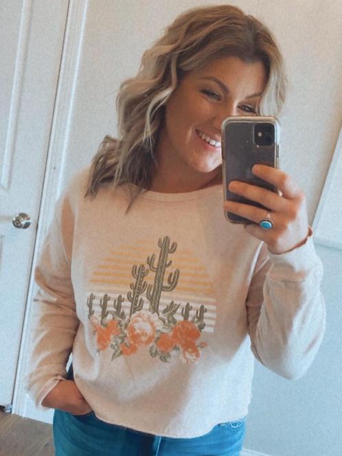The Desert Rose Terry Sweatshirt