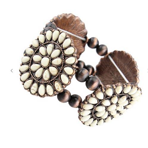 Ivory Turquoise Bracelet