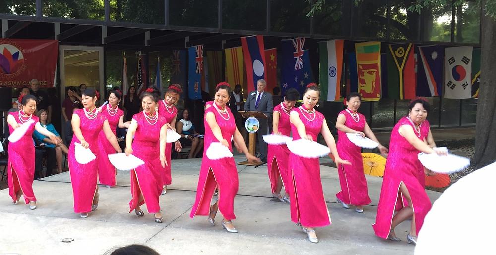 烟花三月 旗袍舞表演 Orlando Chinese Association 奥兰多华人协会