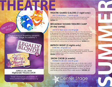 Summer 2019 Theatre Programs