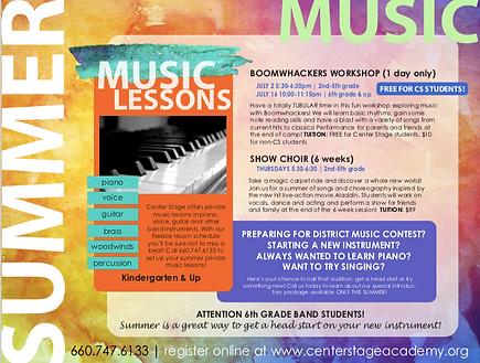 Summer 2019 Music Programs