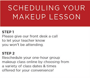 Scheduling Music Makeup lessons