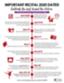 Recital 2020 Evening Show Checklist red.