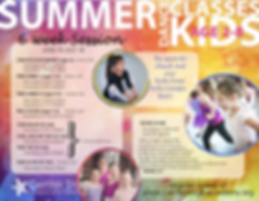 Summer 2019 Little Kids Weekly Classes