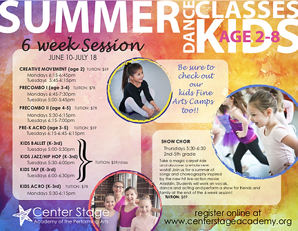 Summer 2019 Little Kids Weekly Classes