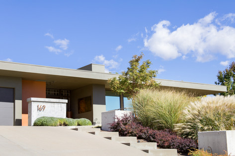 Architectural Photographer Kyle Aiken Captures A Mid-Century Modern Exterior in the Greater Avenues of Salt Lake City, Utah, For A Real Estate Agent.