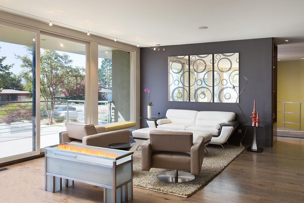 Utah Mid-Century Modern Living Space
