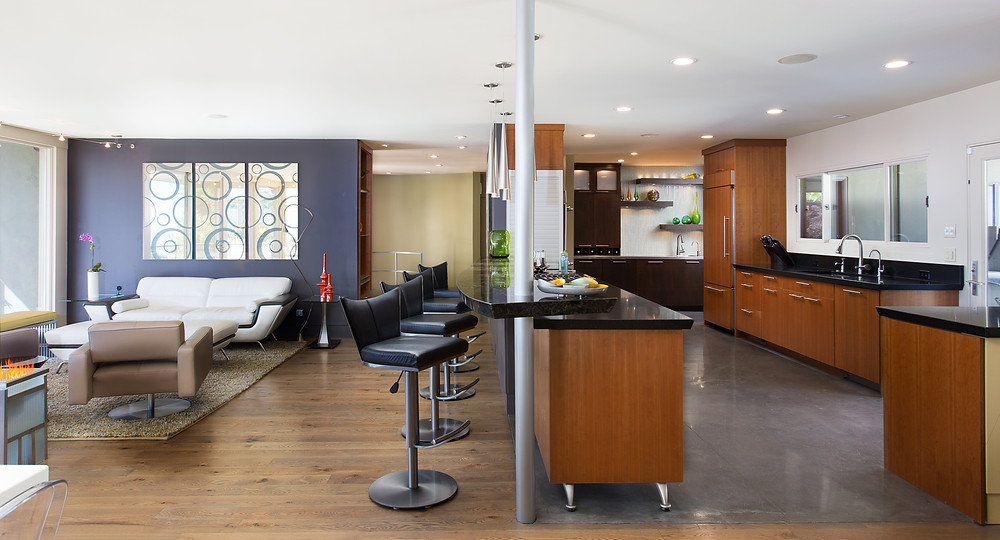 Utah Mid-Century Modern Kitchen and Living Space