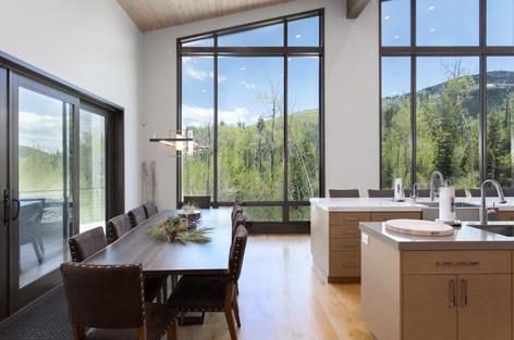 Park City Utah Luxury Retreat Dinning / Kitchen Space