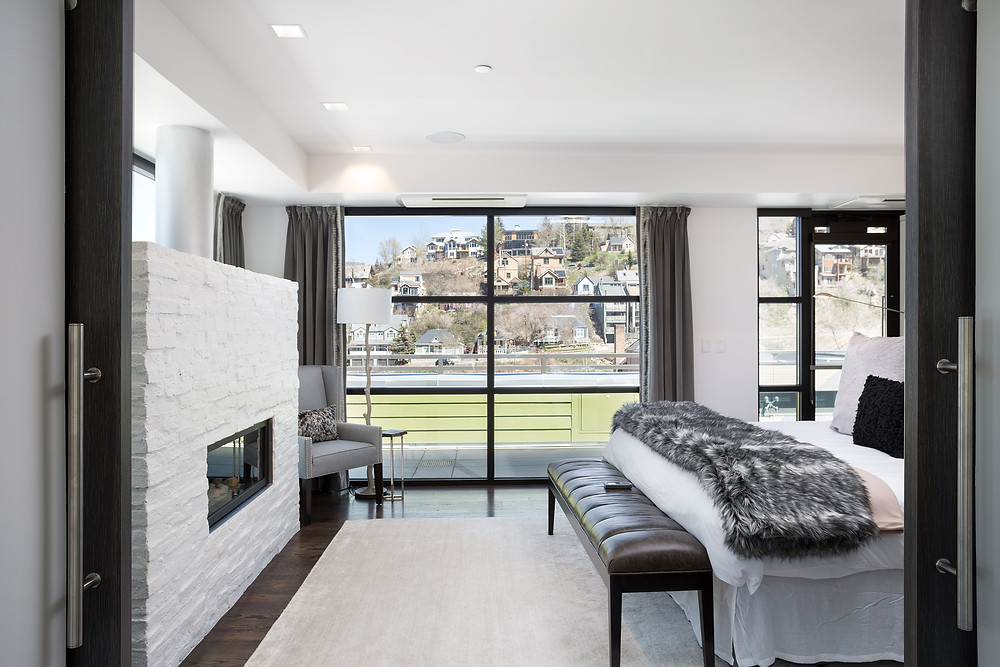 Parkite Master Bedroom with views of Main Street Park City