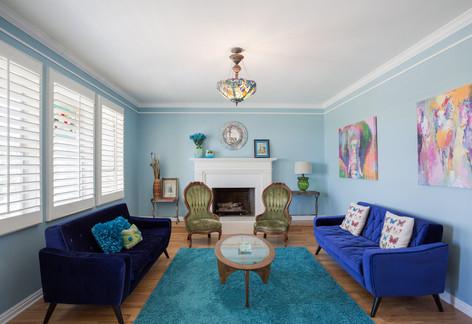 Blue Living Space In Cottonwood Heights Utah