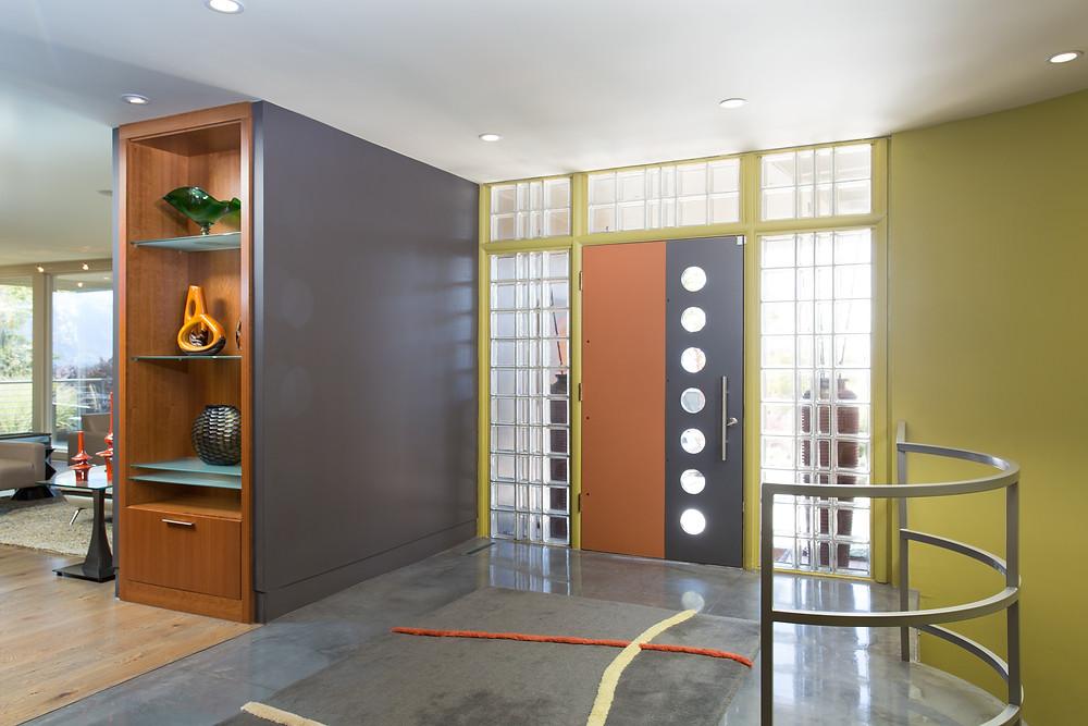 Utah Mid-Century Modern Home Entry Way