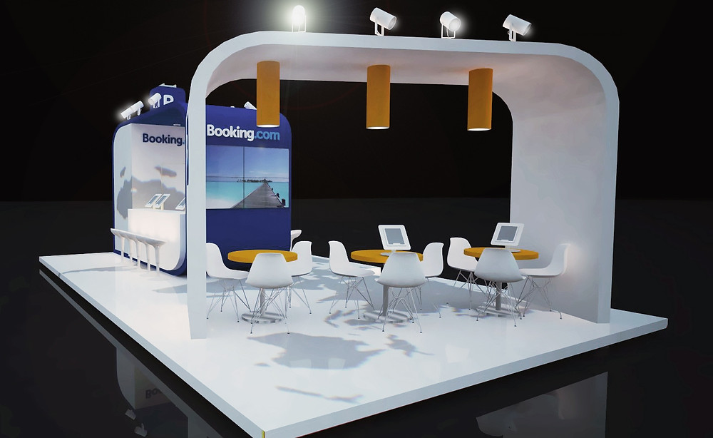 BOOKING.COM exhibition stand