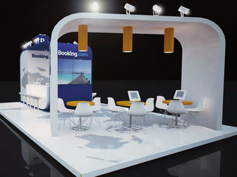 BOOKING.COM exhibition stand _HO.RE.CA. 2015