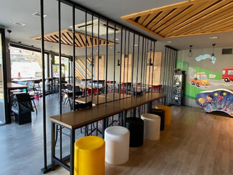 Interior & implementation design for Goody's Burger House Playground, at Galatsi.