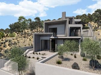 Final design for 3 residences at Porto Rafti, Attica.