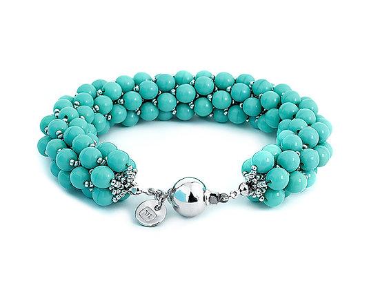 Jewelry, Bracelet, Silver, Turquoise, Sterling Silver, Hanalei, ML, Michelle Leonardo Design, Hanalei Bracelet