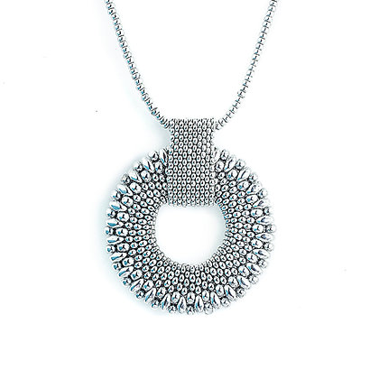 Jewelry, Necklace, Pendant, Silver, Sterling Silver, Donut, Ring, Eternity, ML, Michelle Leonardo Design, Eternity Pendant