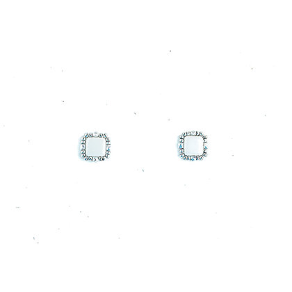 Jewelry, Earrings, Silver, White, Snow, Luster, Sparkle, Stud, ML, Michelle Leonardo Design, Stella Stud Earrings