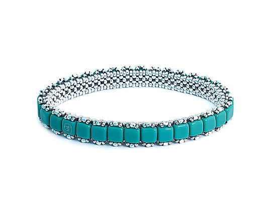 Jewelry, Earrings, Silver, Caribbean, Turquoise, Teal, Sparkle, Stud, ML, Michelle Leonardo Design, Stella Stud Earrings
