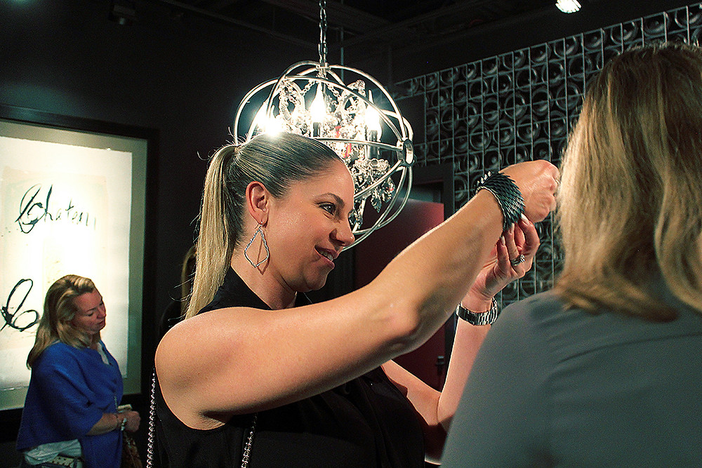 Michelle Leonardo Design Launch Party — Trying On The Jewelry