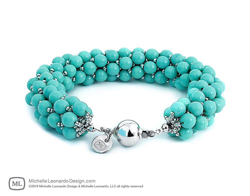 Hanalei Bracelet—Turquoise by Michelle Leonardo Design