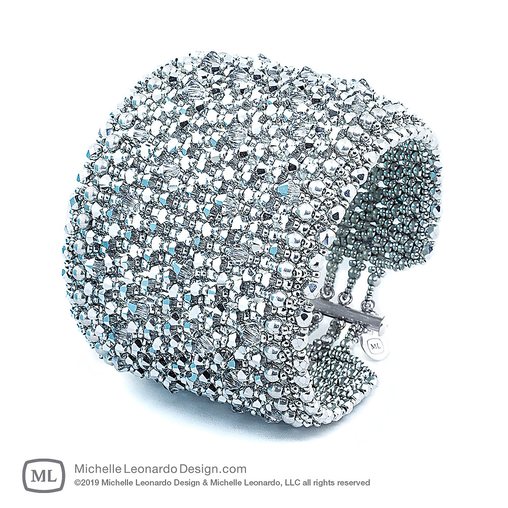 Brillance Bracelet—Diamond Silver by Michelle Leonardo Design