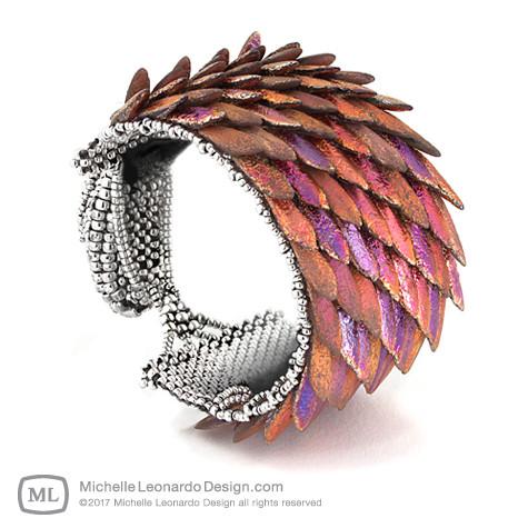 Ouroboros Dragon Cuff by Michelle Leonardo Design