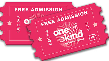 One Of A Kind 2 Free Admission Tickets Complements of Michelle Leonardo Design