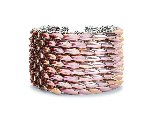 Jewelry, Bracelet, Cuff, Metallic Rose, Sterling Silver, ML, Dragon, GOT, ML, Michelle Leonardo Design, Dragon Scale Cuff