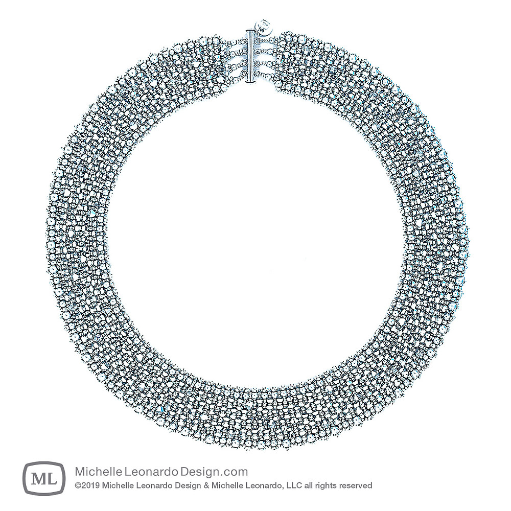 Brilliance Necklace—Diamond Silver by Michelle Leonardo Design
