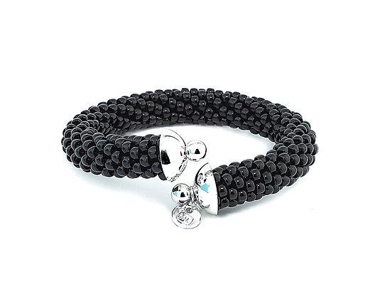 Jewelry, Bracelet, Cuff, Black Orchid, Sterling Silver , ML, Michelle Leonardo Design, Scottsdale Cuff