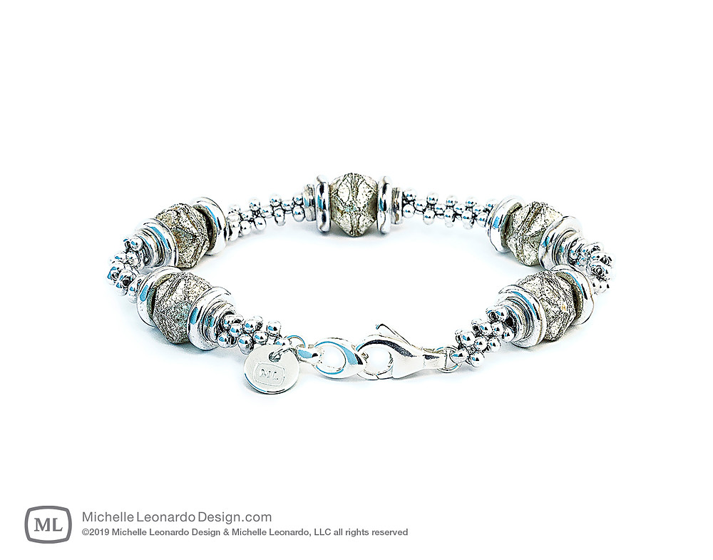Luna Lux Bracelet—Color: Frost Abalone by Michelle Leonardo Design