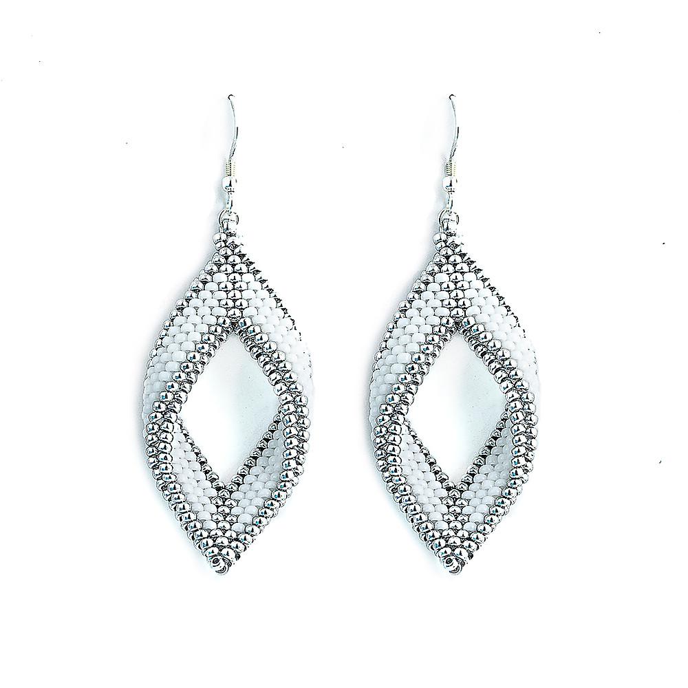 Paragon Earrings—Snow by Michelle Leonardo Design