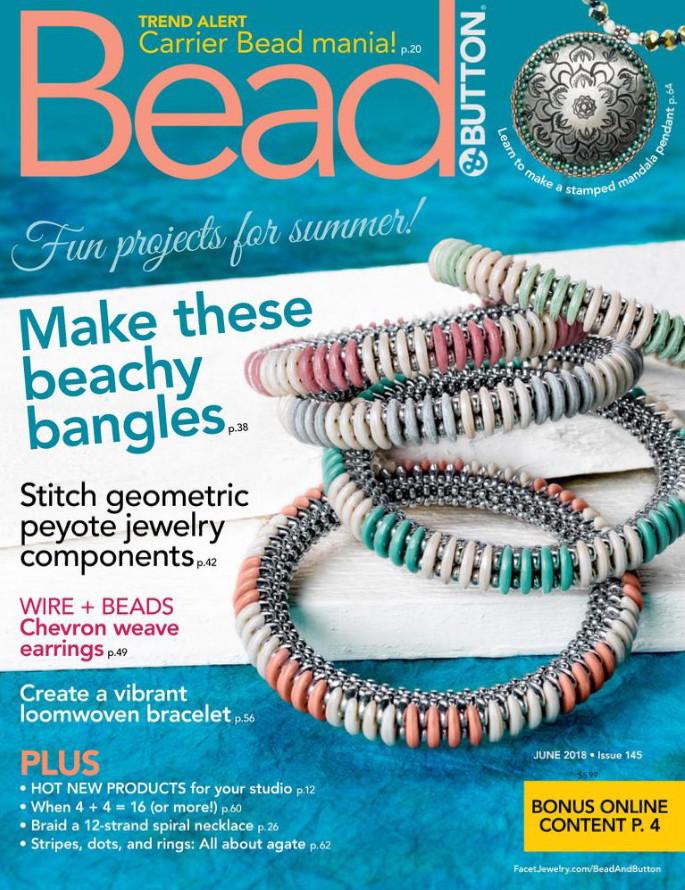 Bead & Button Magazine Cover June 2018