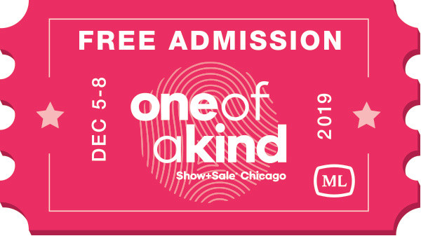 One Of A Kind Show Free Admission Ticket Complements of Michelle Leonardo Design