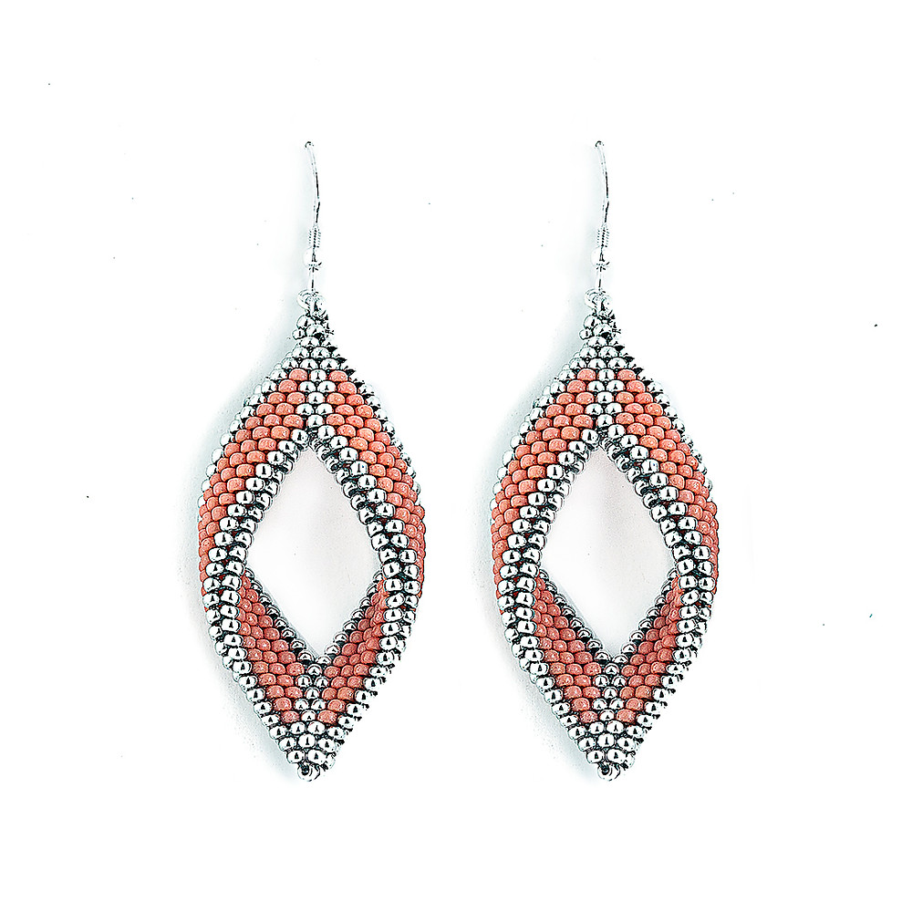 Paragon Earrings—Living Coral by Michelle Leonardo Design