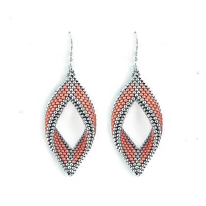 Jewelry, Earrings, Silver, Living Coral, Sterling Silver, ML, Michelle Leonardo Design, Paragon Earrings