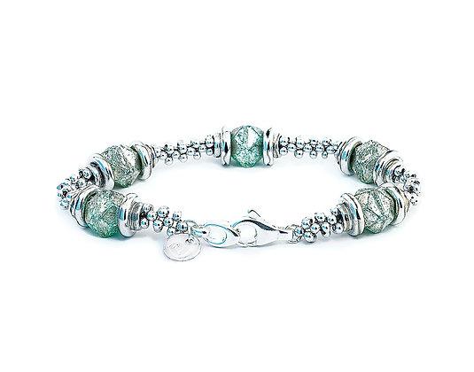 Jewelry, Bracelet, Sterling Silver, Frost Jade, Swarovski, ML, Michelle Leonardo Design, Luna Lux Bracelet