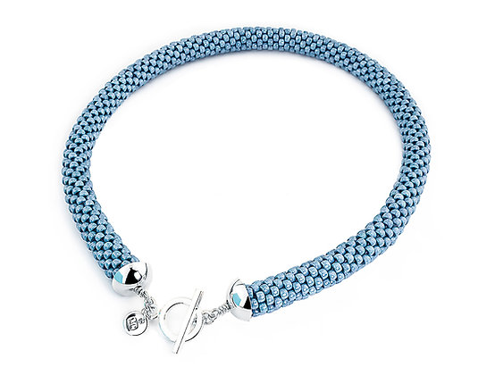 Jewelry, Necklace, Blue, Powder Blue, Sterling Silver, ML, Michelle Leonardo Design, Scottsdale Necklace