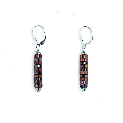 Jewelry, Earrings, Gift, Silver, Purple, Sterling Silver, Sparkle, ML, Michelle Leonardo Design, Chicago Lights Earrings