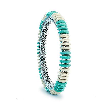 Jewelry, Bracelet, Bangle, Silver, Turquoise, Hilton Head, ML, Michelle Leonardo Design, Hilton Head Bangle