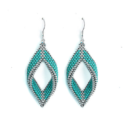 Jewelry, Earrings, Silver, Turquoise, Sterling Silver, ML, Michelle Leonardo Design, Paragon Earrings
