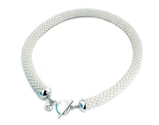 Jewelry, Necklace, White, Snow, Sterling Silver, ML, Michelle Leonardo Design, Scottsdale Necklace
