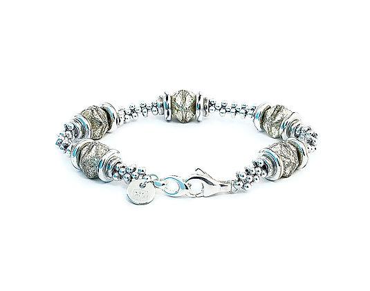 Jewelry, Bracelet, Sterling Silver, Frost Abalone, Swarovski, ML, Michelle Leonardo Design, Luna Lux Bracelet
