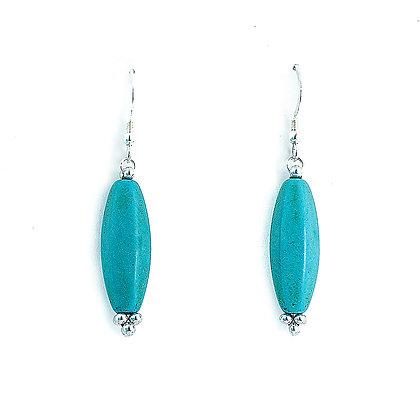 Jewelry, Earrings, Turquoise, Aqua, Sterling Silver, ML, Michelle Leonardo Design, Wave Crest Earrings