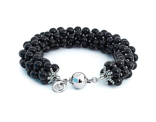 Jewelry, Bracelet, Silver, Black, Onyx, Sterling Silver, Hanalei, ML, Michelle Leonardo Design, Hanalei Bracelet