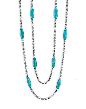 Jewelry, Necklace, Silver, Turquoise, Multi Strand, Wave Crest, ML, Michelle Leonardo Design, Wave Crest Necklace
