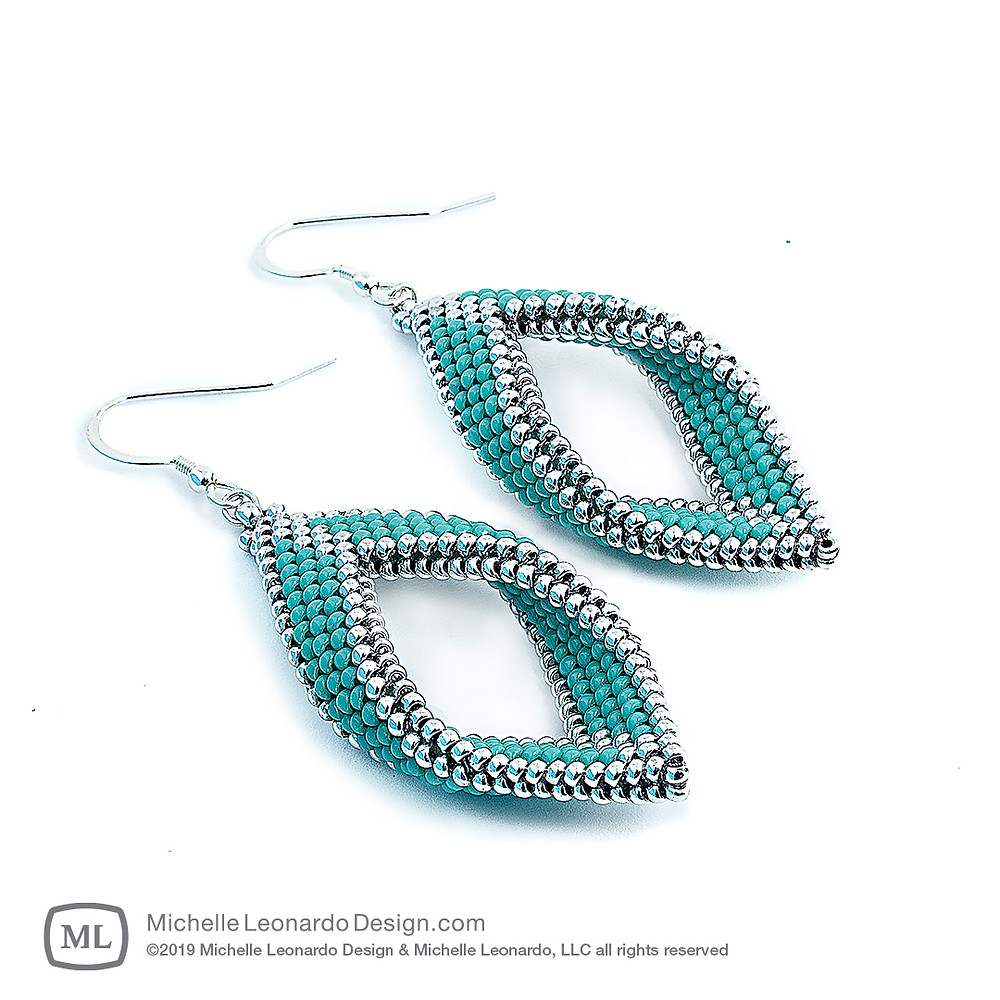 Paragon Earrings—Color: Turquoise by Michelle Leonardo Design